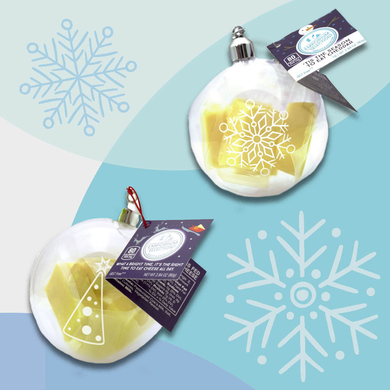 Aldi Cheese Ornaments
