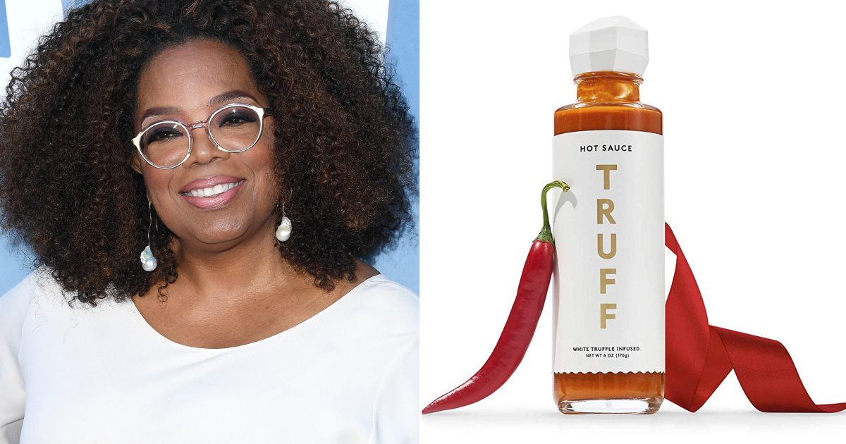 "LOS ANGELES, CALIFORNIA - AUGUST 06: Oprah Winfrey arrives at the Premiere Of OWN's ""David Makes Man"" at NeueHouse Hollywood on August 06, 2019 in Los Angeles, California. (Photo by Steve Granitz/WireImage) truffle hot sauce Truff Credit: Amazon"