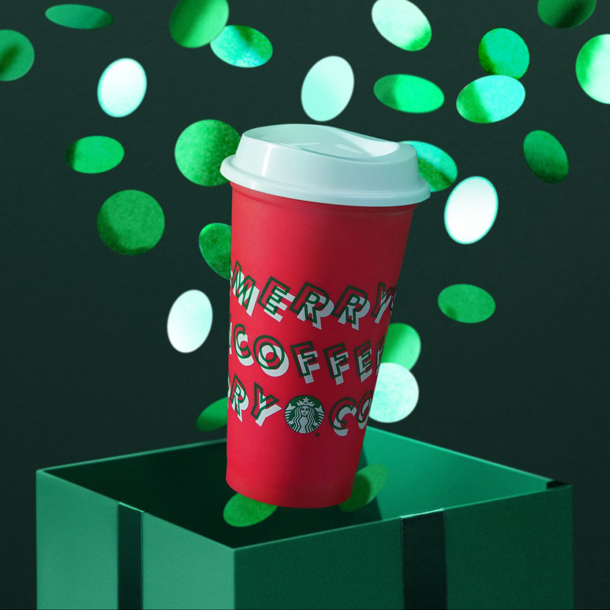 Merry Coffee Starbucks Cup