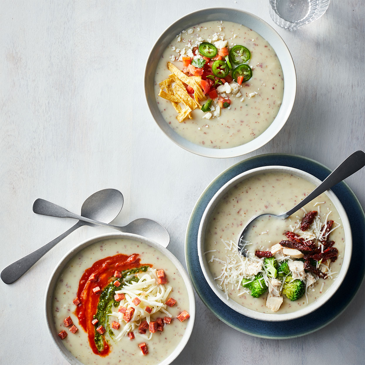Slow-Cooker Potato Soup Four Ways
