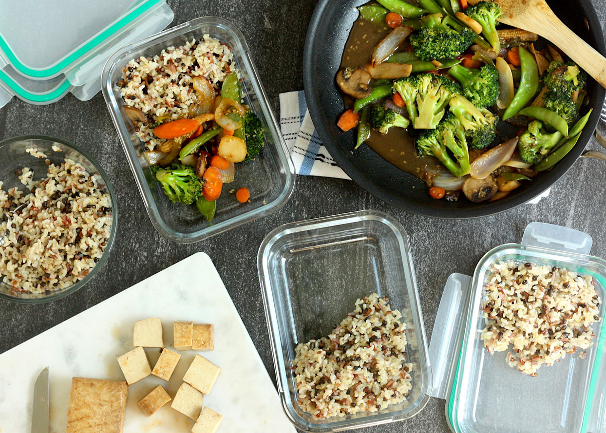 how to meal prep high fiber lunches from trader joes
