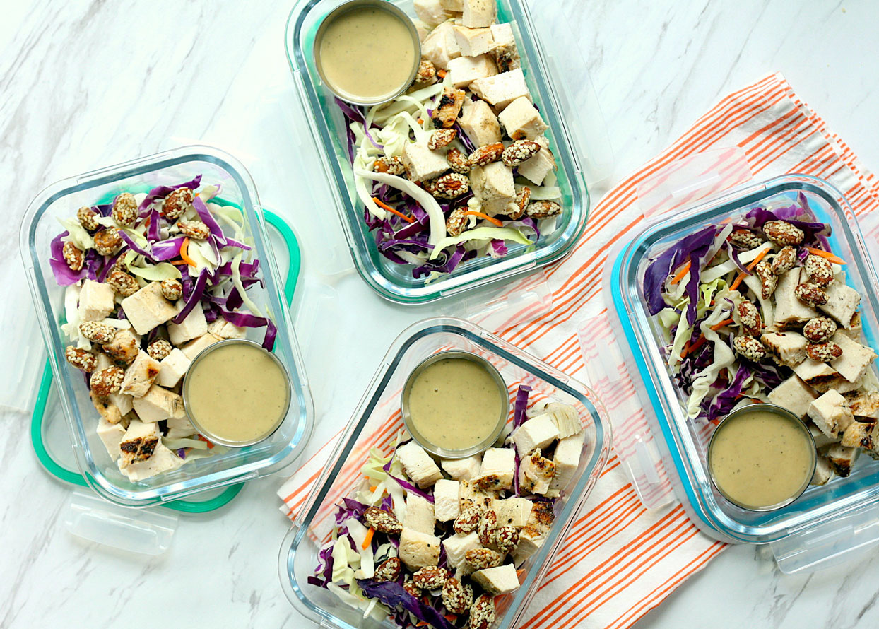 Asian-Style Chicken Salad Bowls