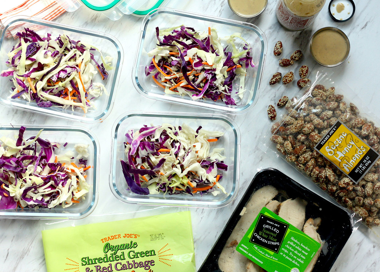 how to meal prep low carb lunches from trader joes