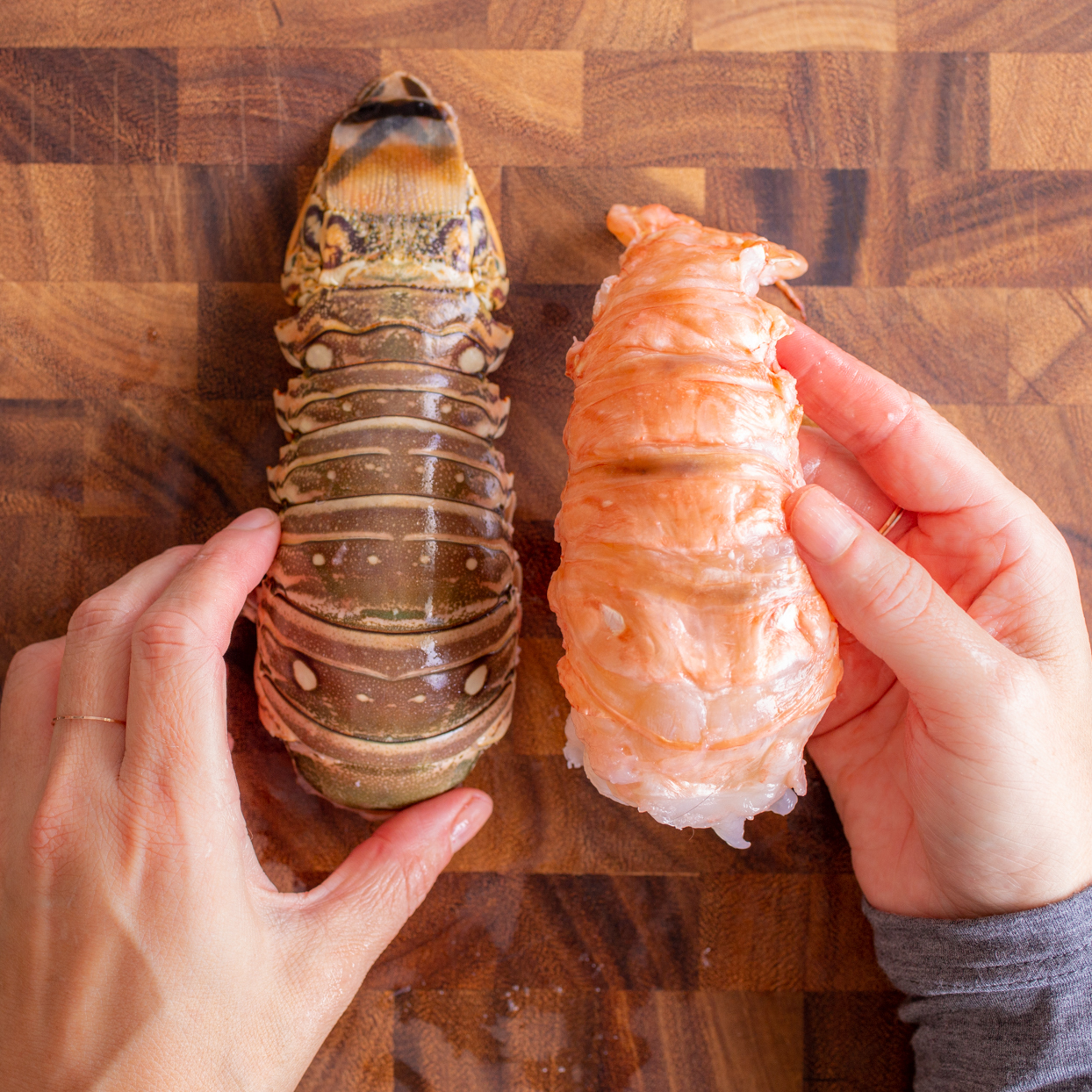 lobster tail with meat removed