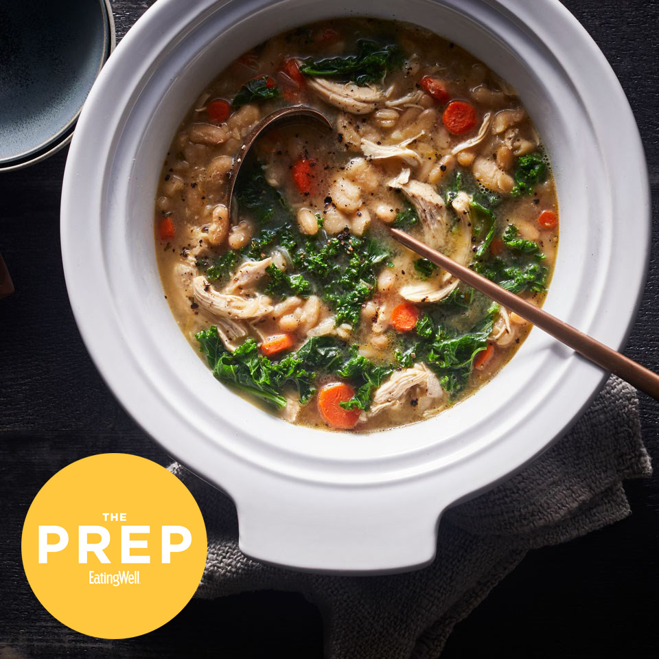 pot of soup with EatingWell's ThePrep logo