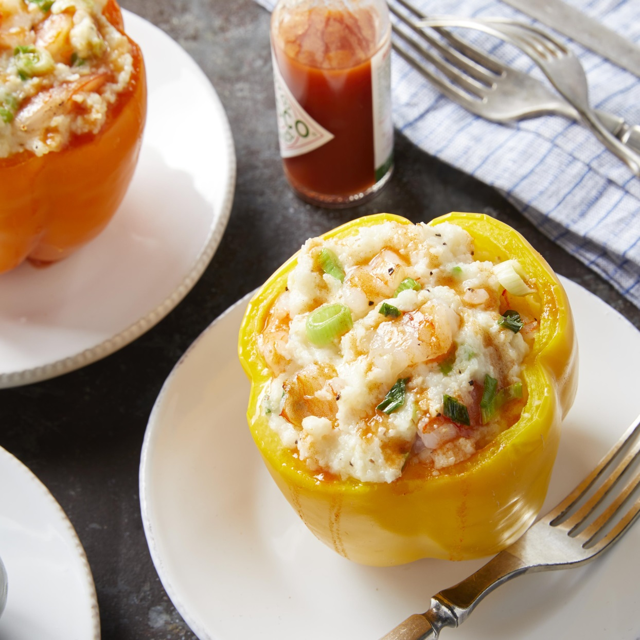 Shrimp-&-Grits-Stuffed Peppers