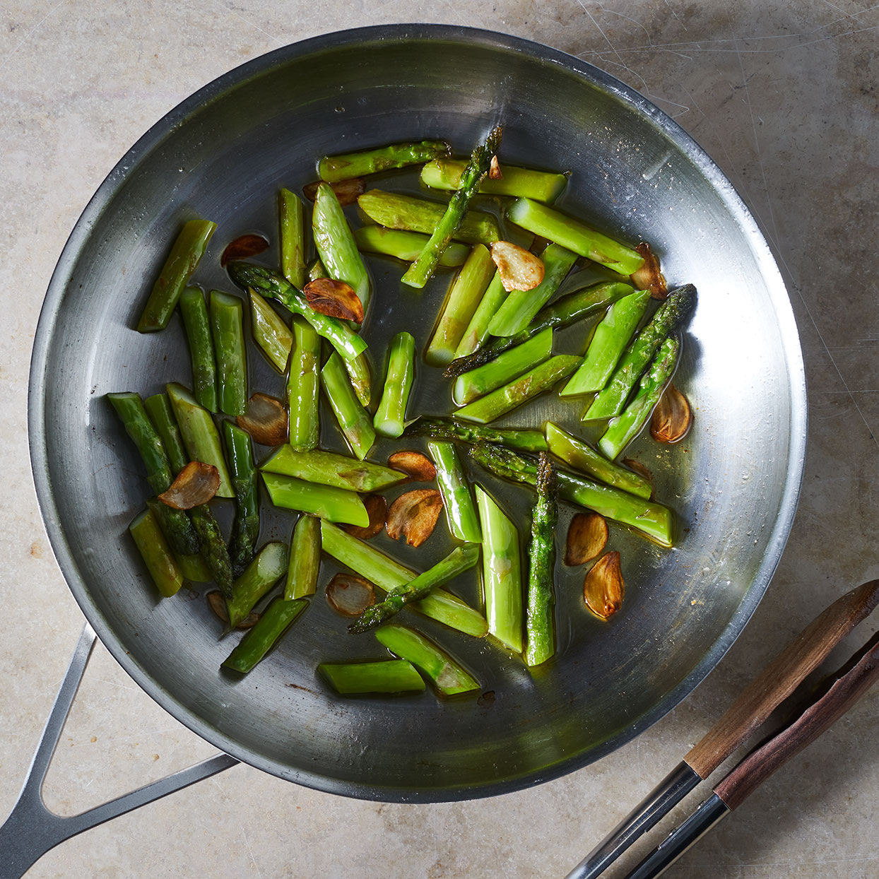 Sauteed-Asparagus-in-a-pan-whole