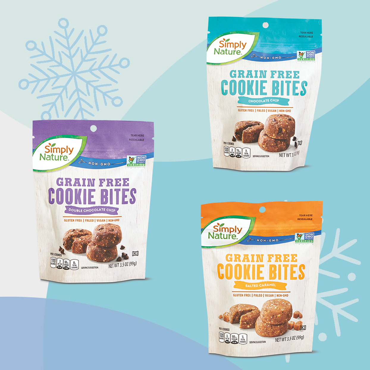 Simply Nature brand Grain Free Cookie Bites