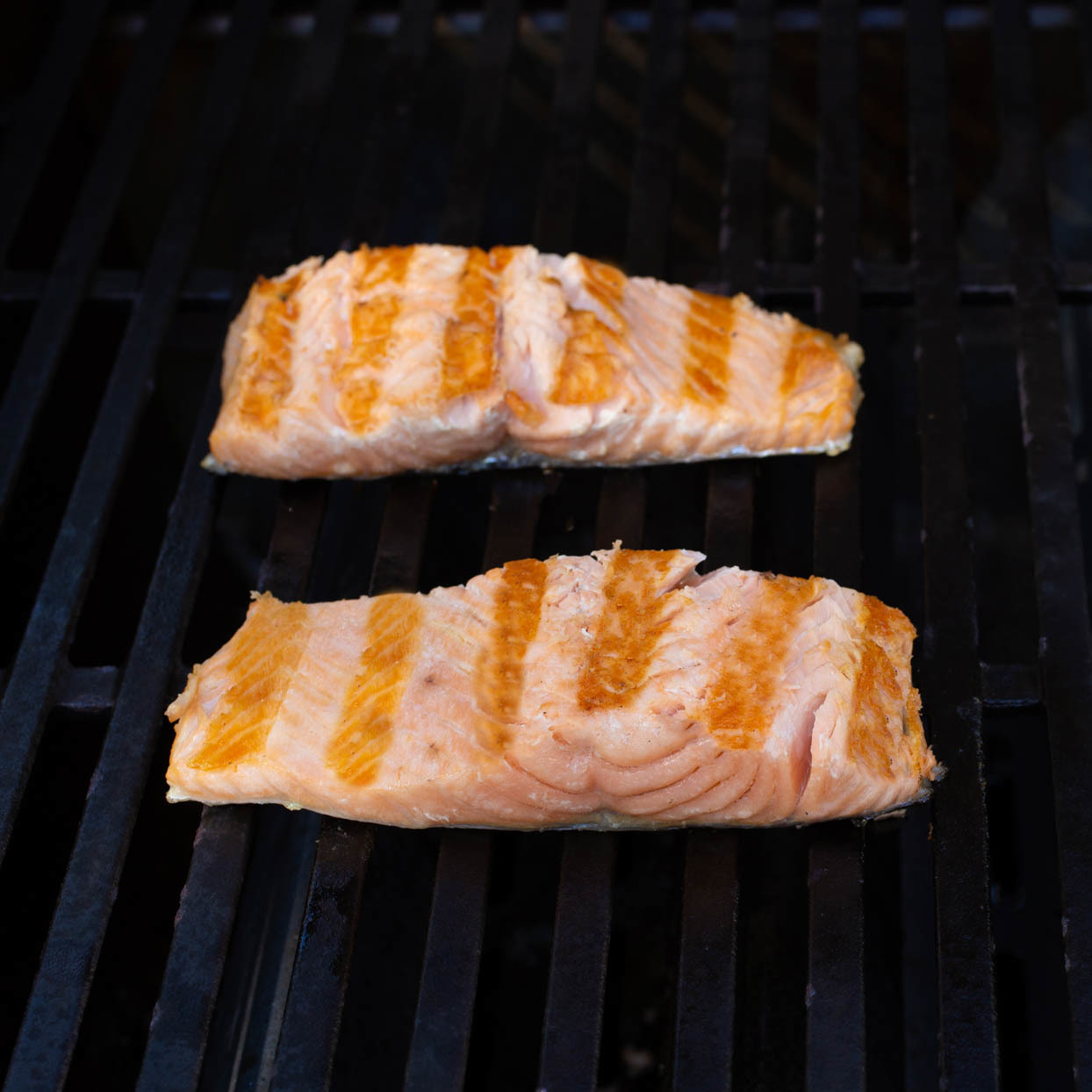 grilled salmon with skin