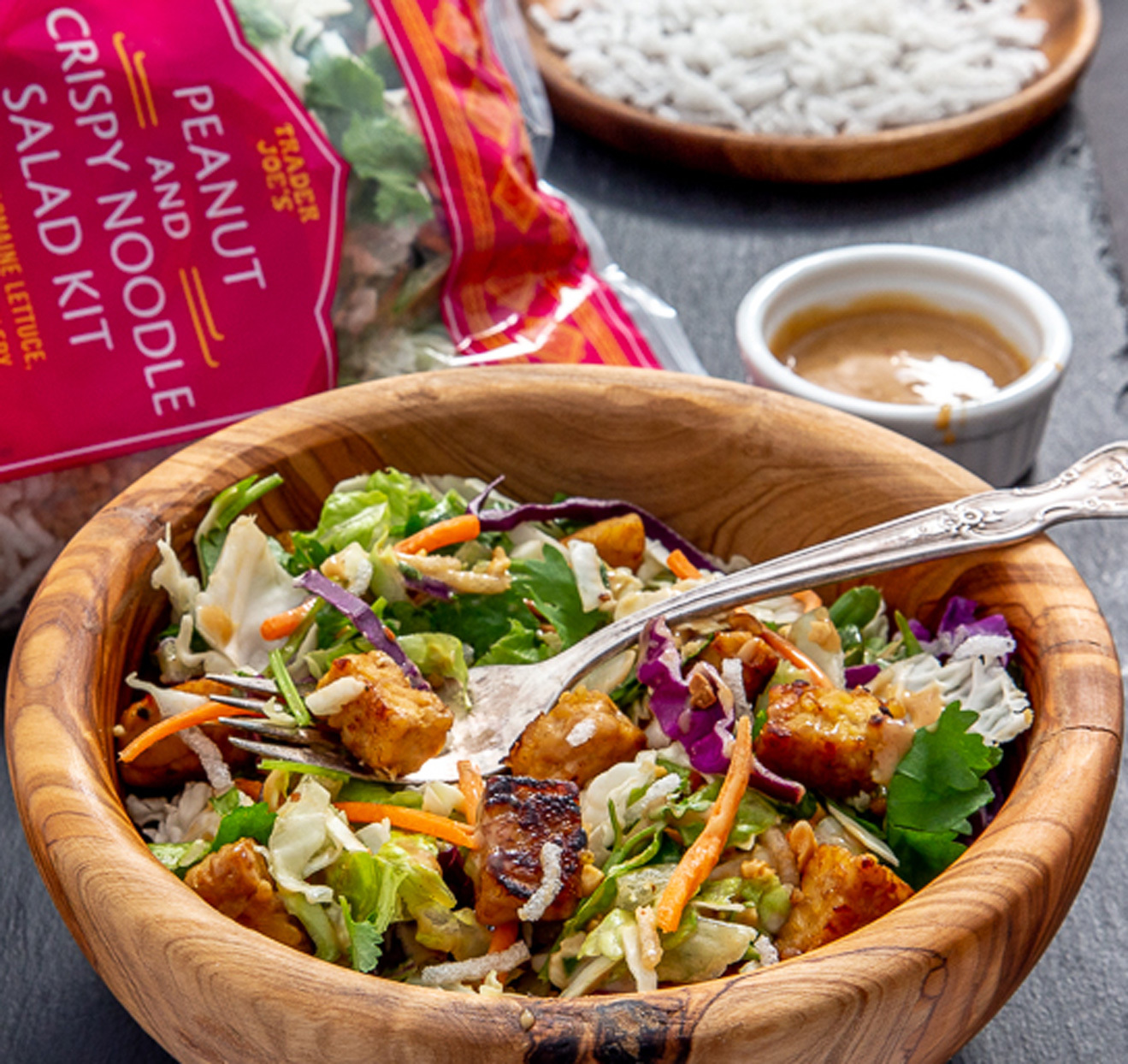 Trader Joe's Peanut and Crispy Noodle Salad Kit