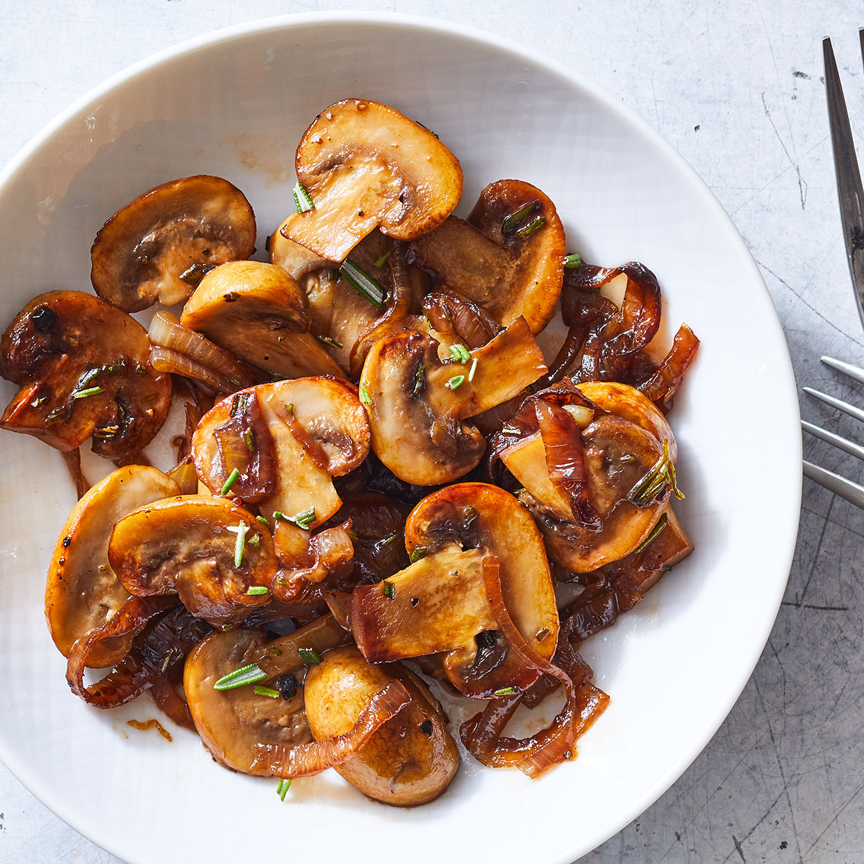Sautéed Mushrooms with Sherry & Shallots