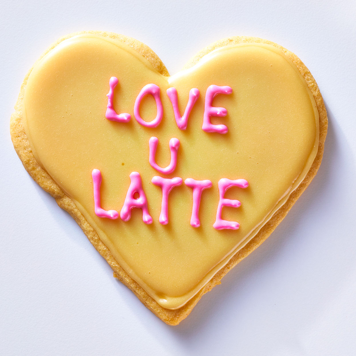 Love U Latte Conversation Heart Cookie