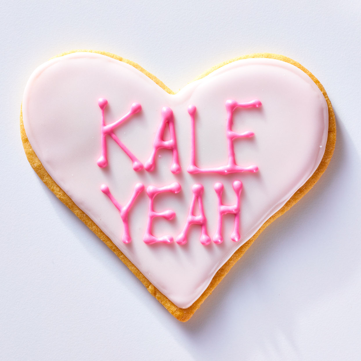 Kale Yeah Conversation Heart Cookie
