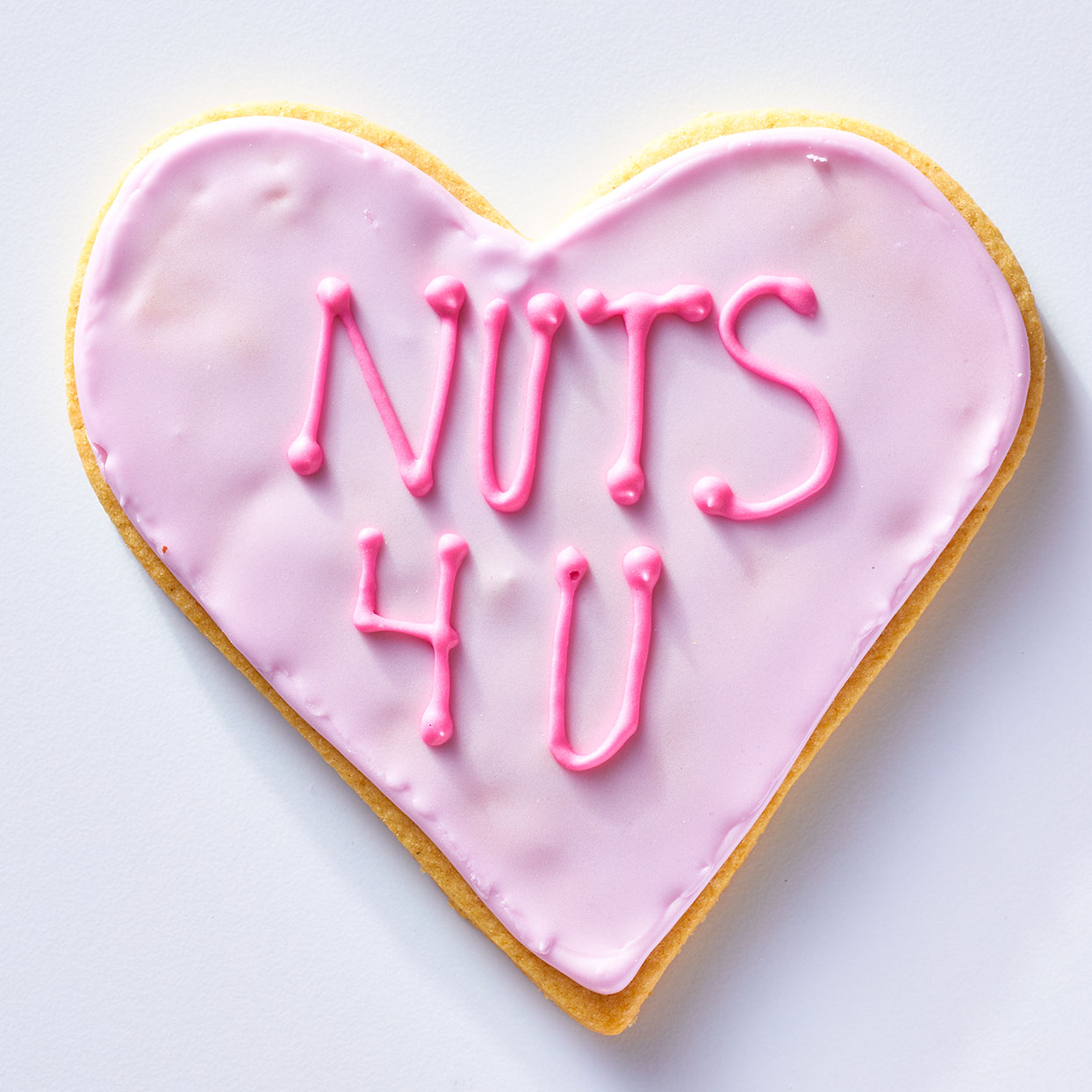 Nuts 4 U Conversation Heart Cookie