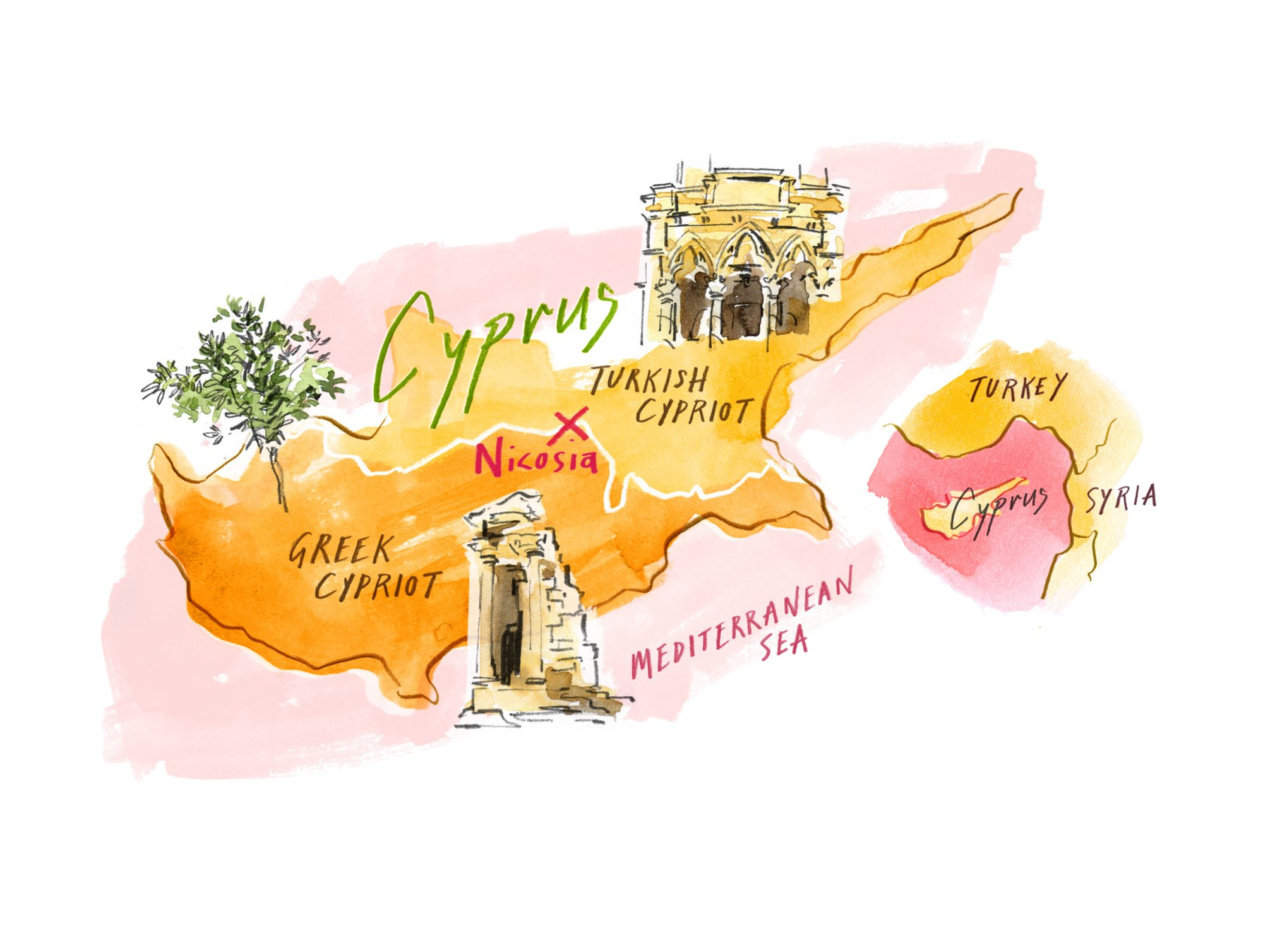 An illstration of Cyprus