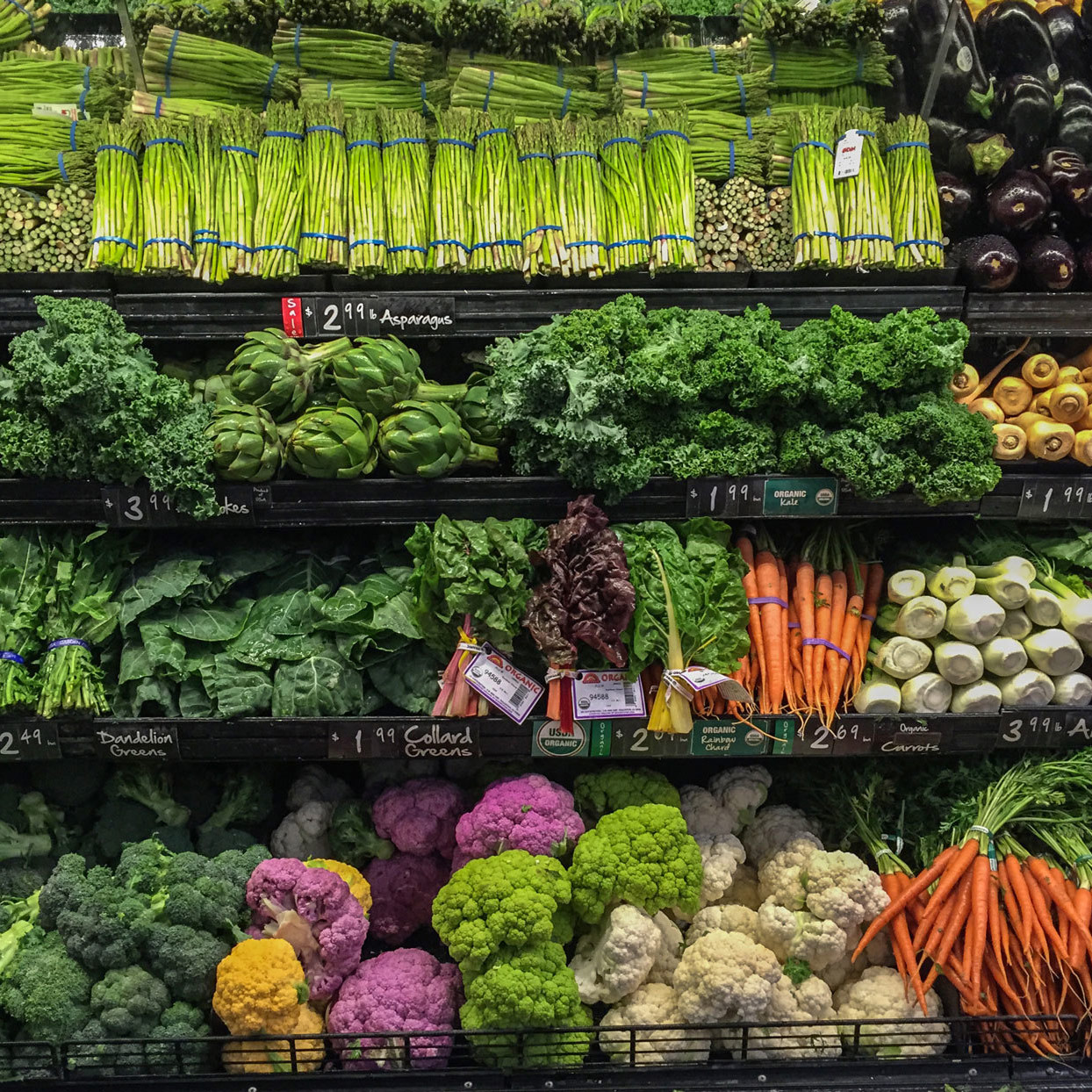 produce department in a grocery store