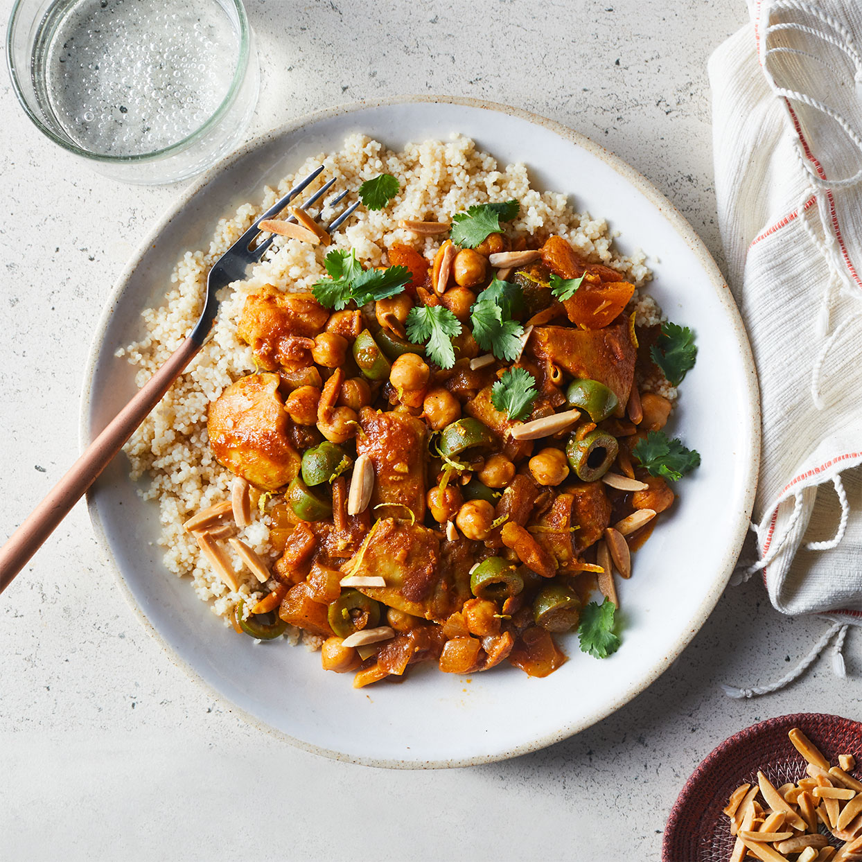 Moroccan Chicken Tagine with Apricots & Olives