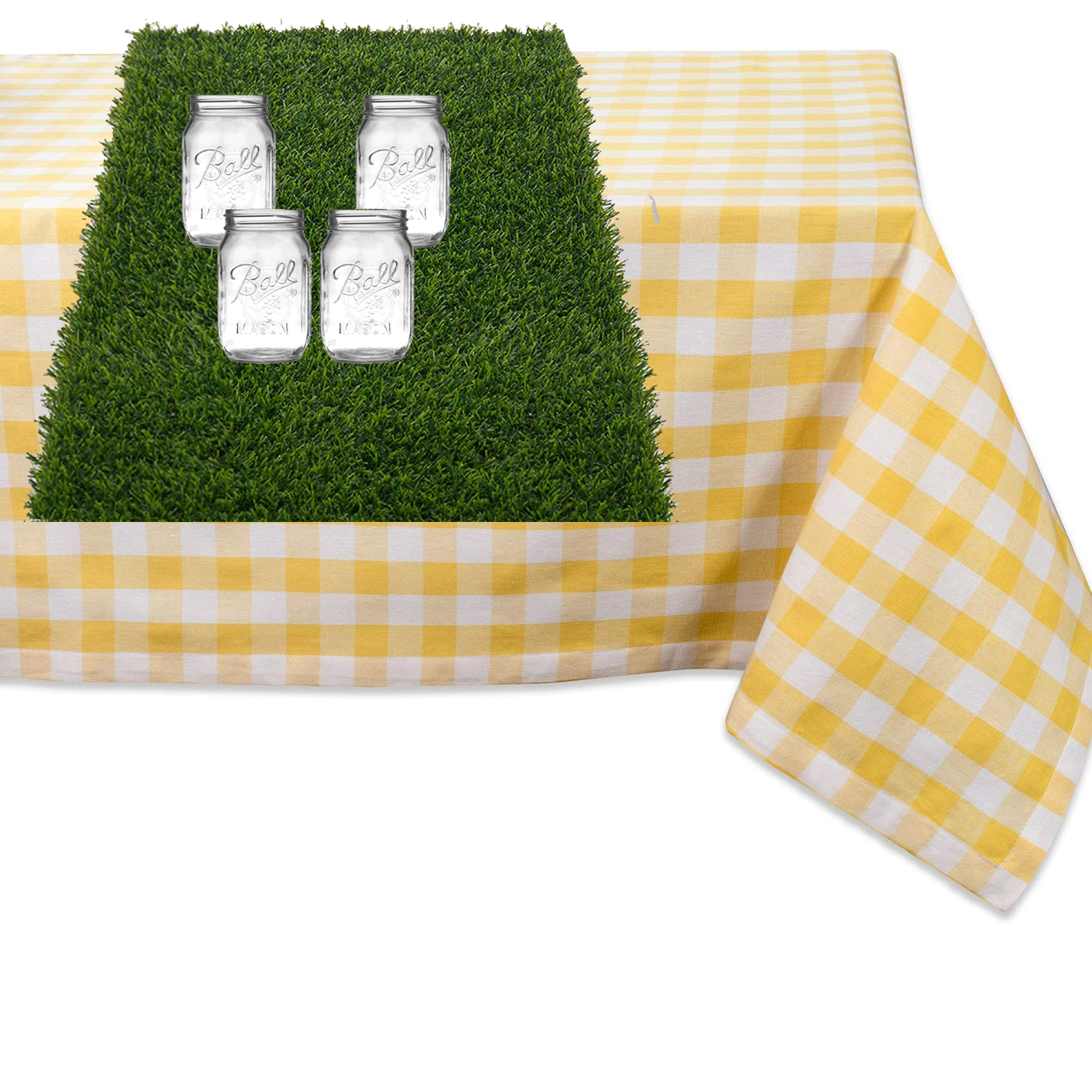 Yellow Gingham Easter Tablescape