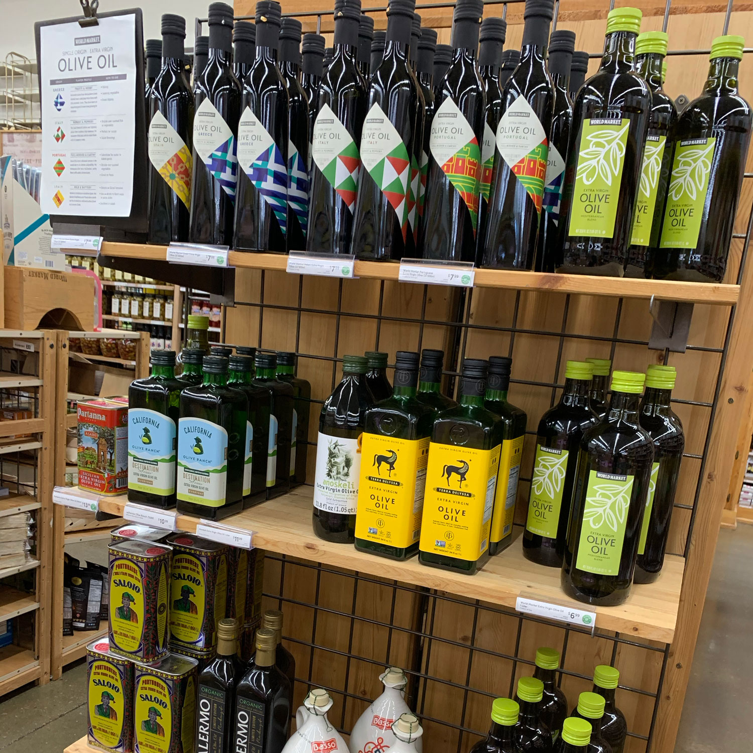 world market olive oil