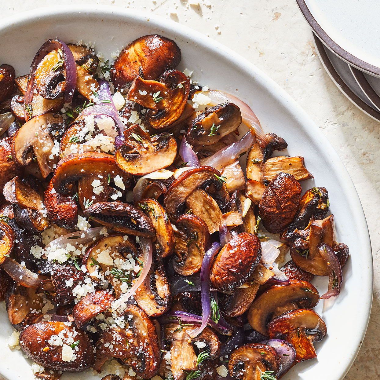 Roasted Mushrooms with Brown Butter & Parmesan