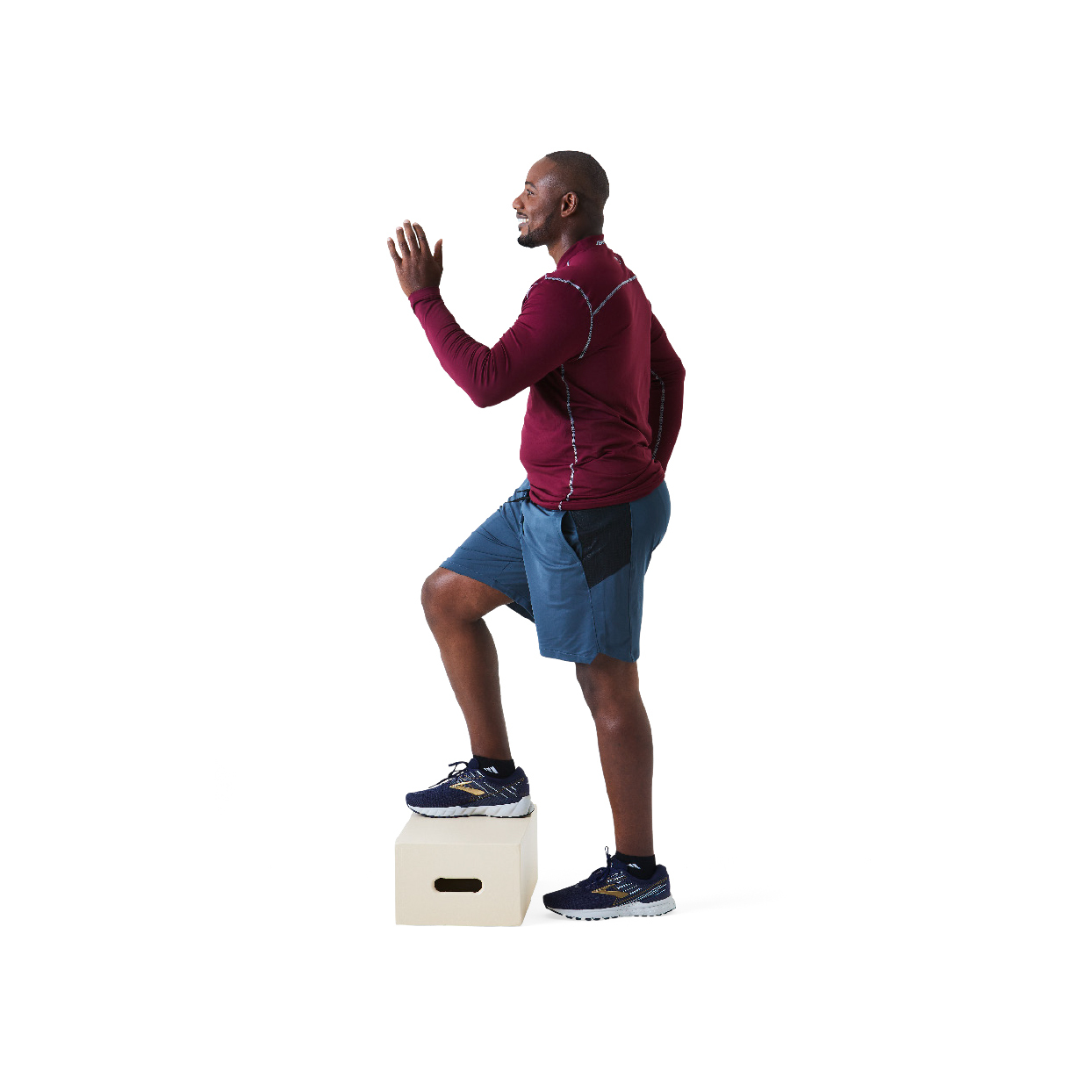 Man doing stair stepping