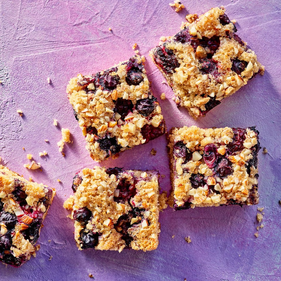 Blackberry & Blueberry Cake Bars