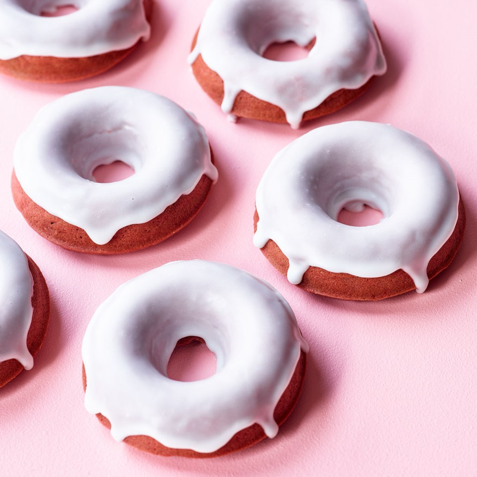 Naturally Red Velvet Doughnuts