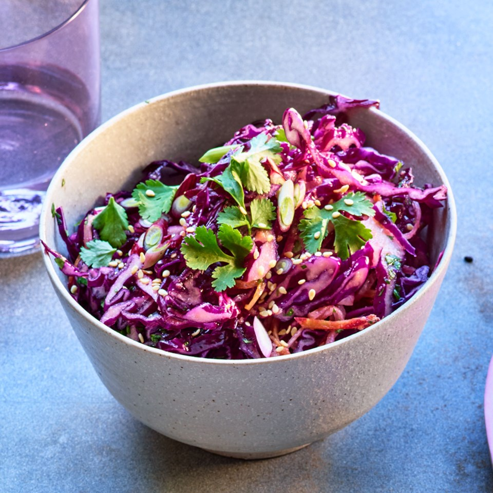 Purple Power Slaw with Sesame-Ginger Vinaigrette