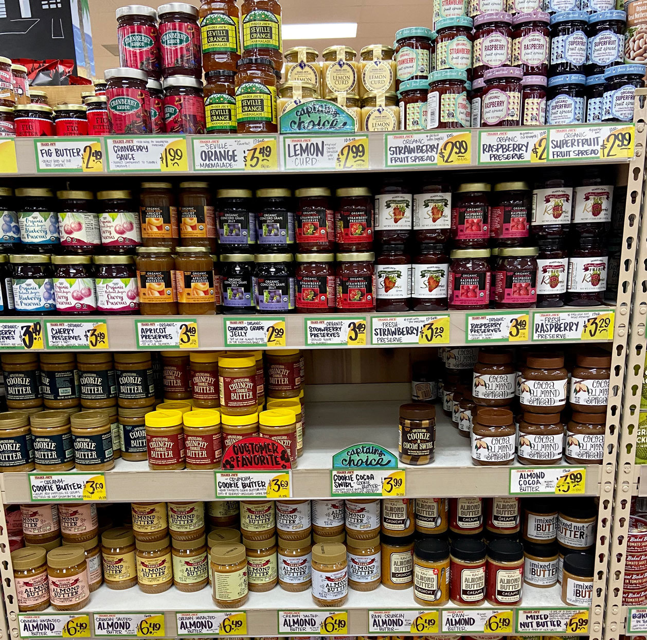 Various Trader Joe's non-perishable foods