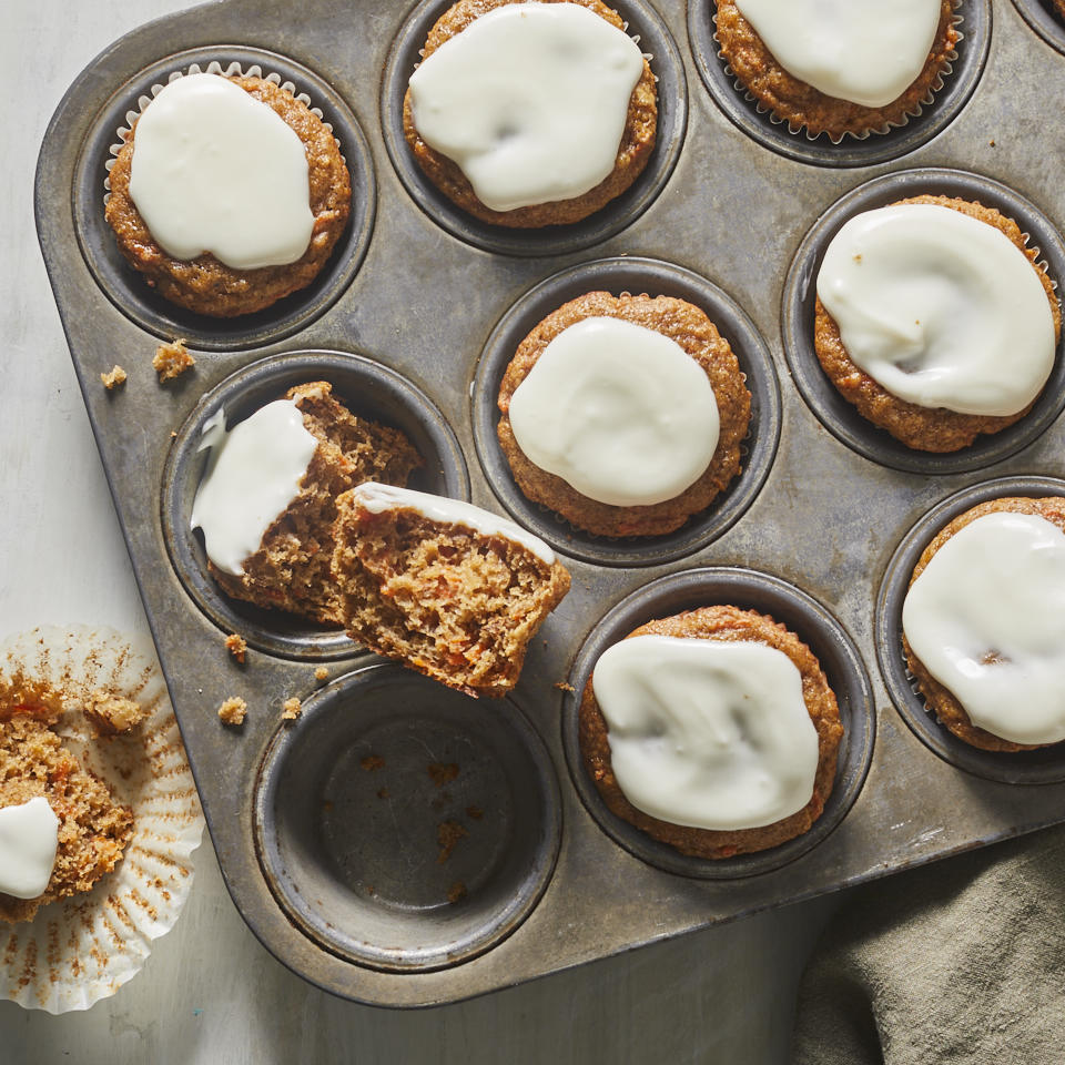 Tin full of Carrot Cake Muffins