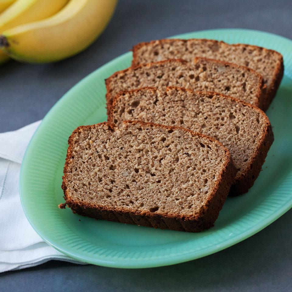 slices of banana bread on a plate