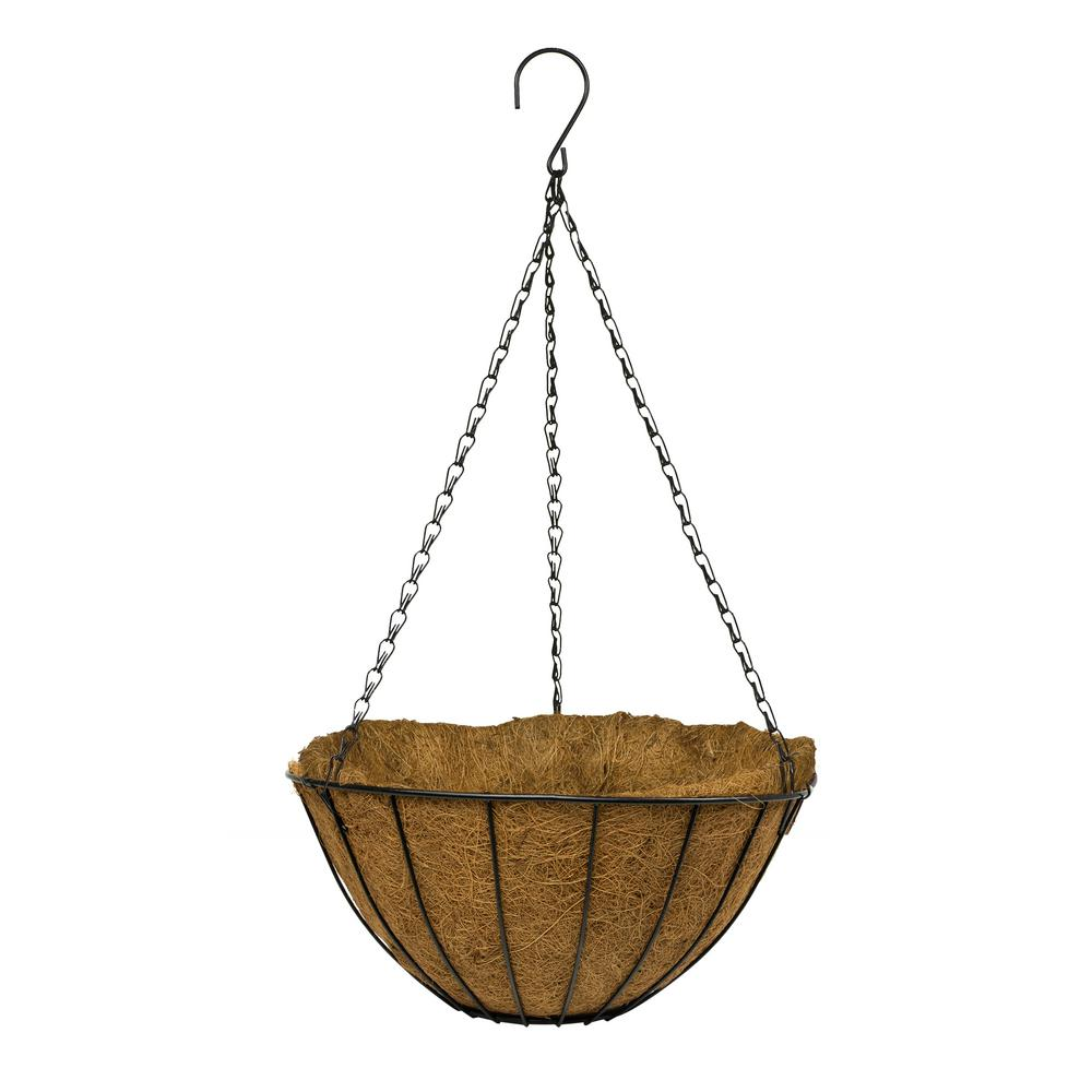 14 in. Metal Growers Hanging Coco Basket