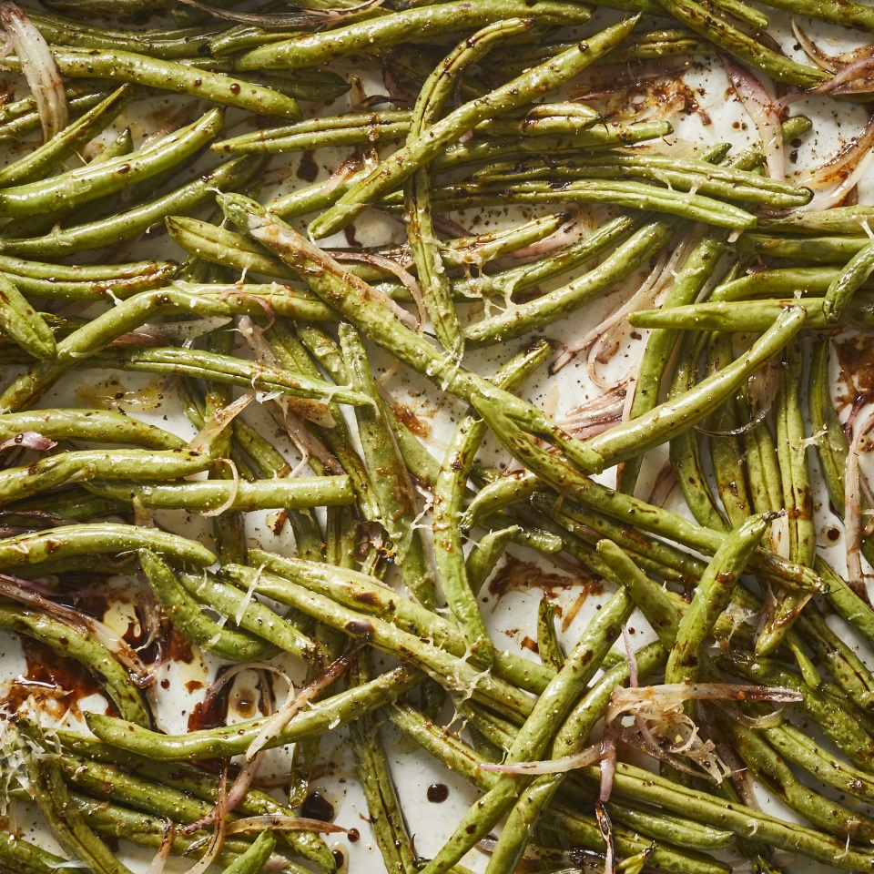 Balsamic-Roasted Green Beans with Parmesan