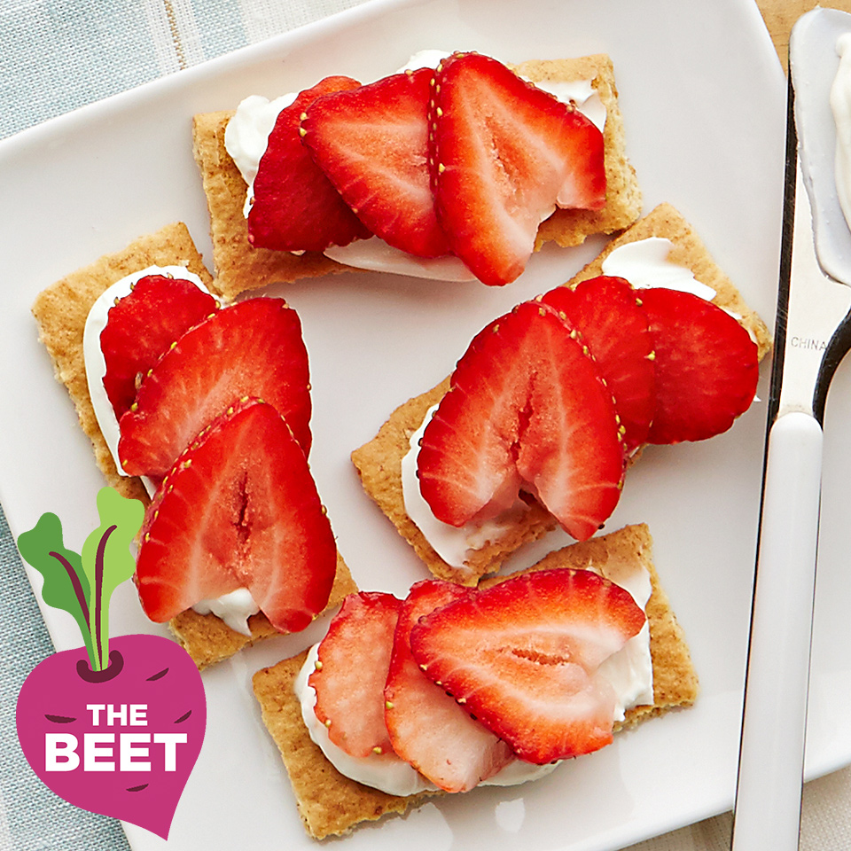 Plate of Strawberry Planks recipe