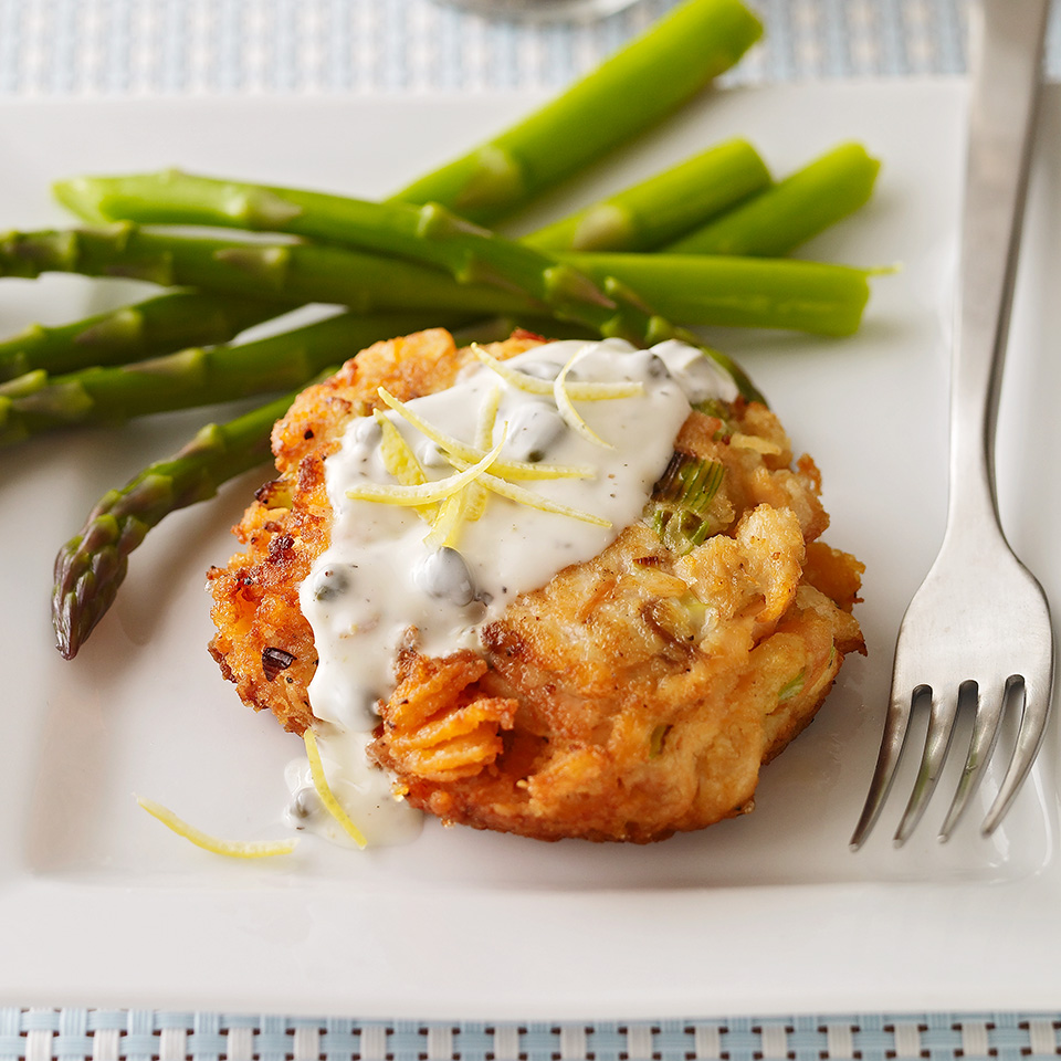 Salmon Cakes with Caper Mayonnaise
