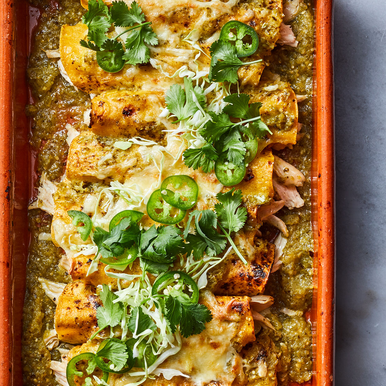 Chicken & Tomatillo Enchiladas