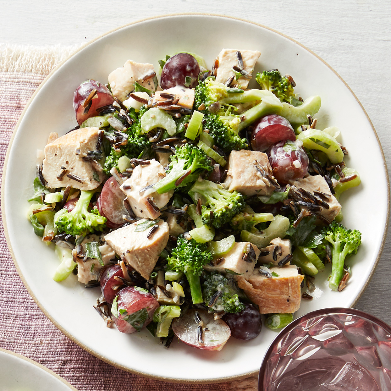 Greek Yogurt Chicken Salad with Wild Rice
