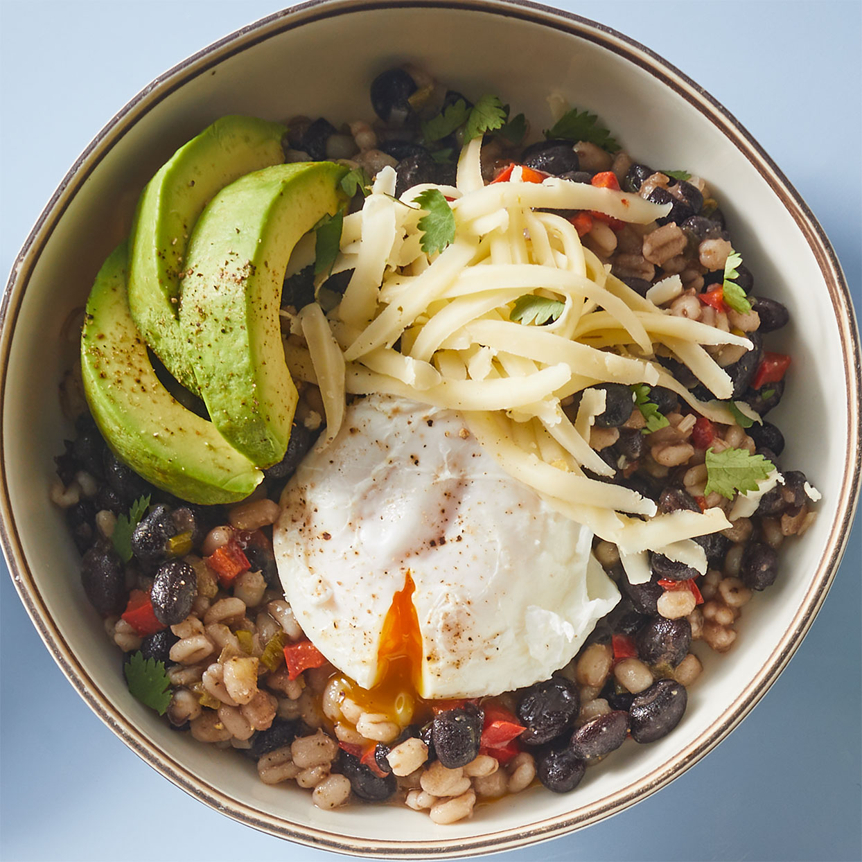Breakfast Beans with Microwave-Poached Egg