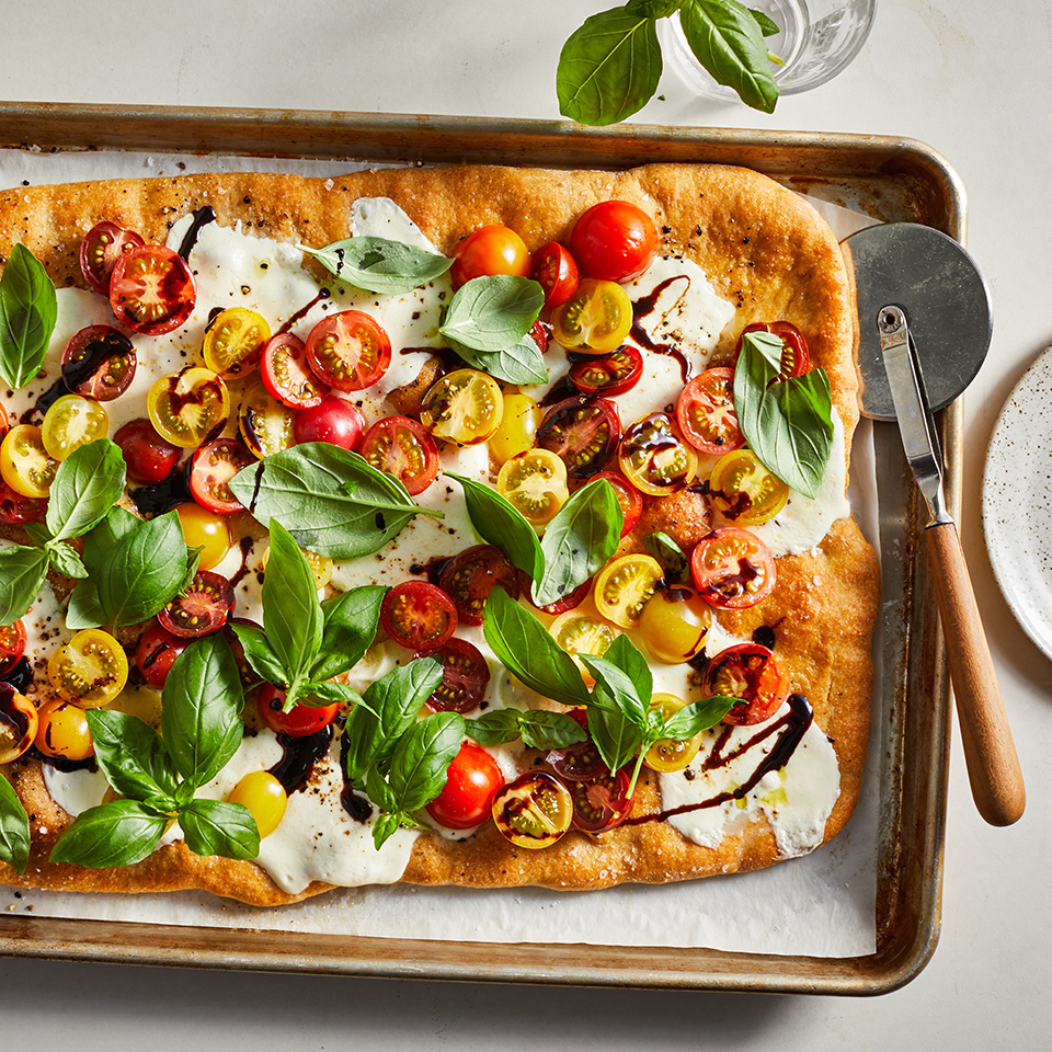 Sheet-Pan Caprese Pizza
