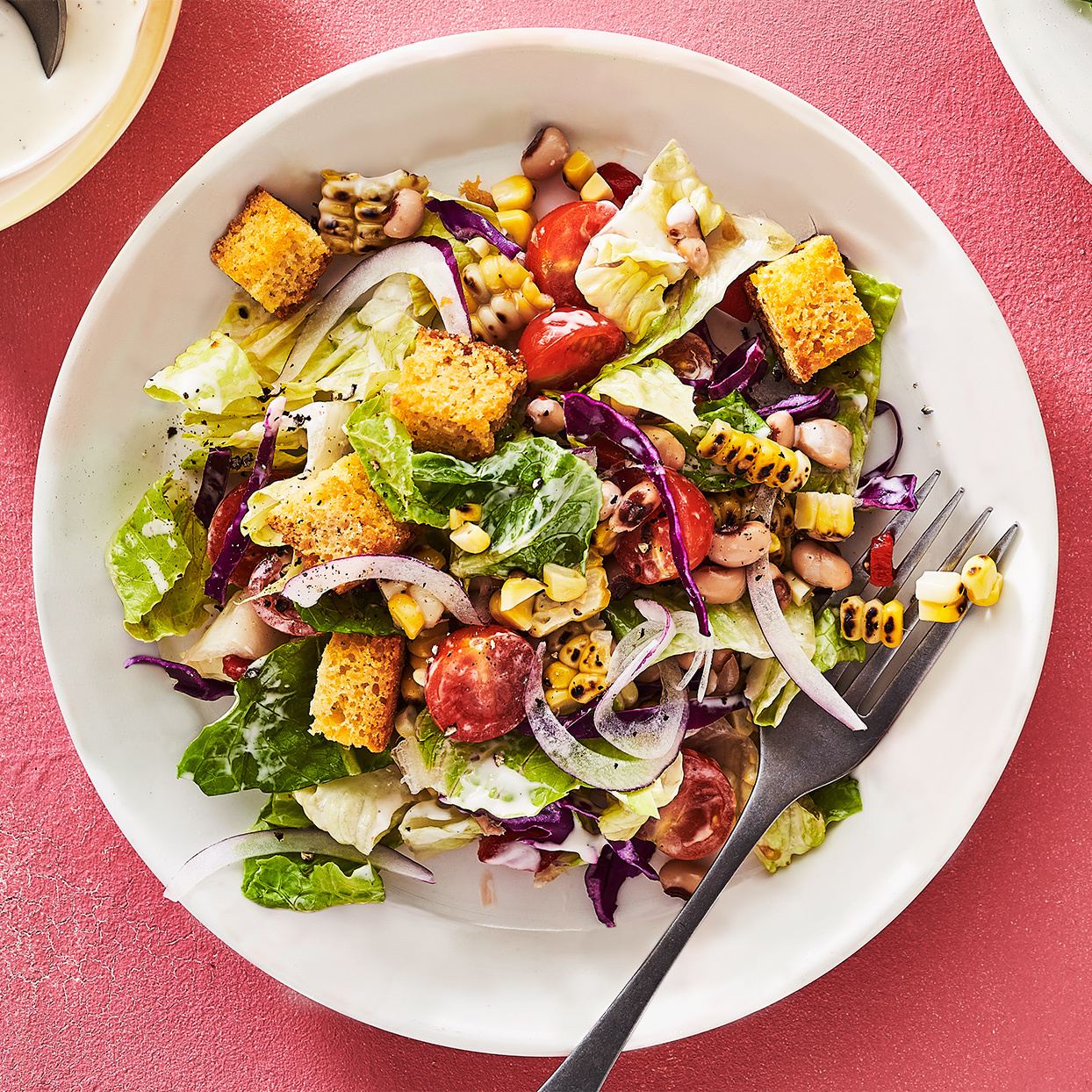 Chopped Salad with Cornbread Croutons