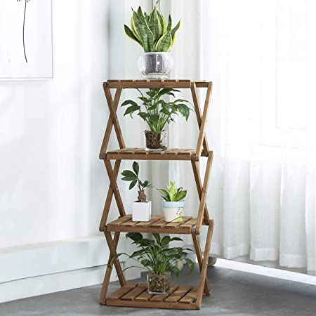 Sunnyglade 4-Tier Foldable Flower Rack Plant Stand