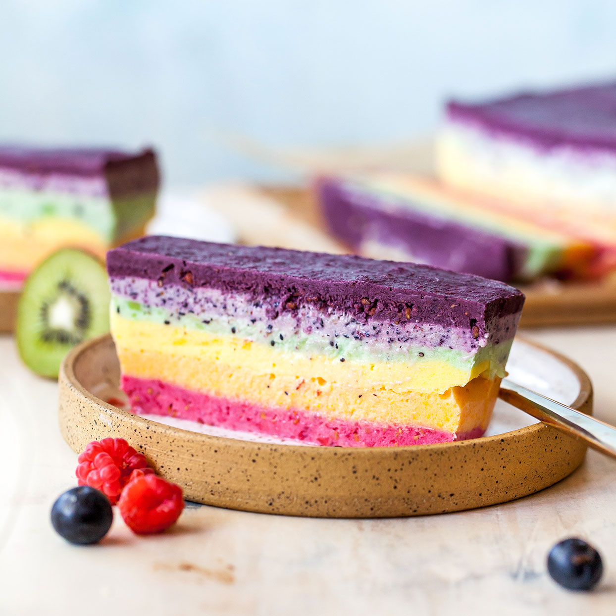 Rainbow Ice Cream Cake