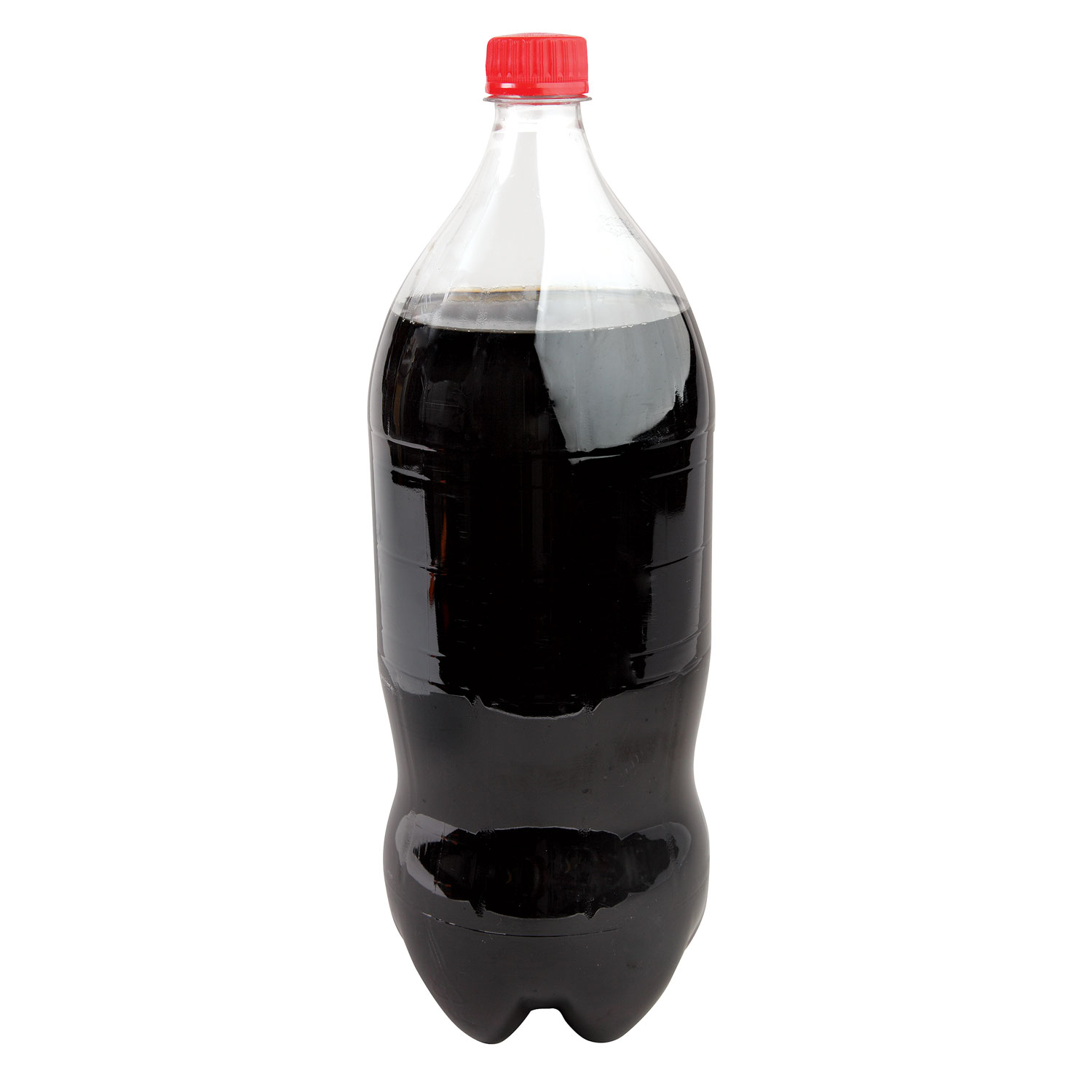 a large bottle of cola on a white background