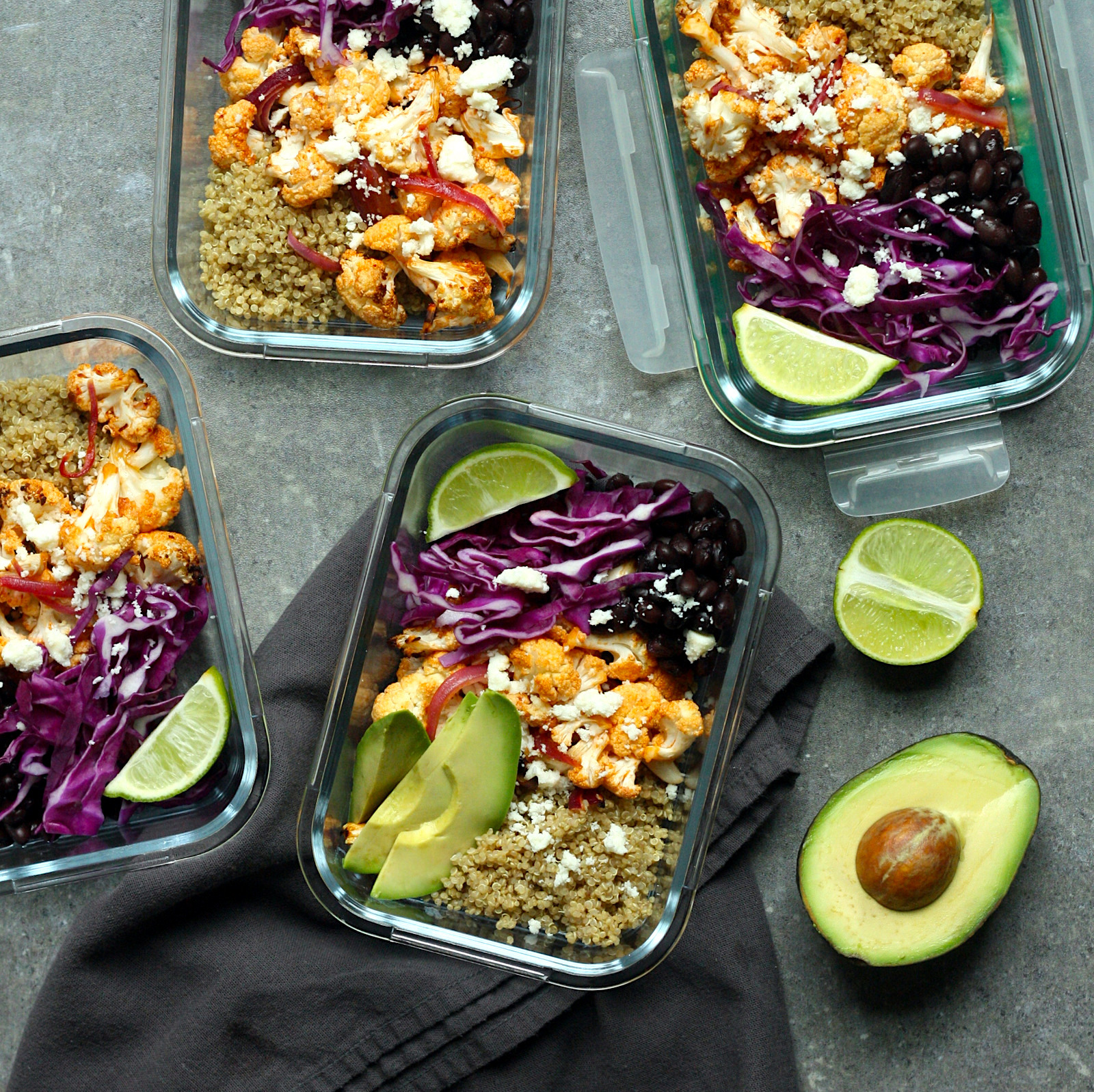 Chipotle-Lime Cauliflower Taco Bowls