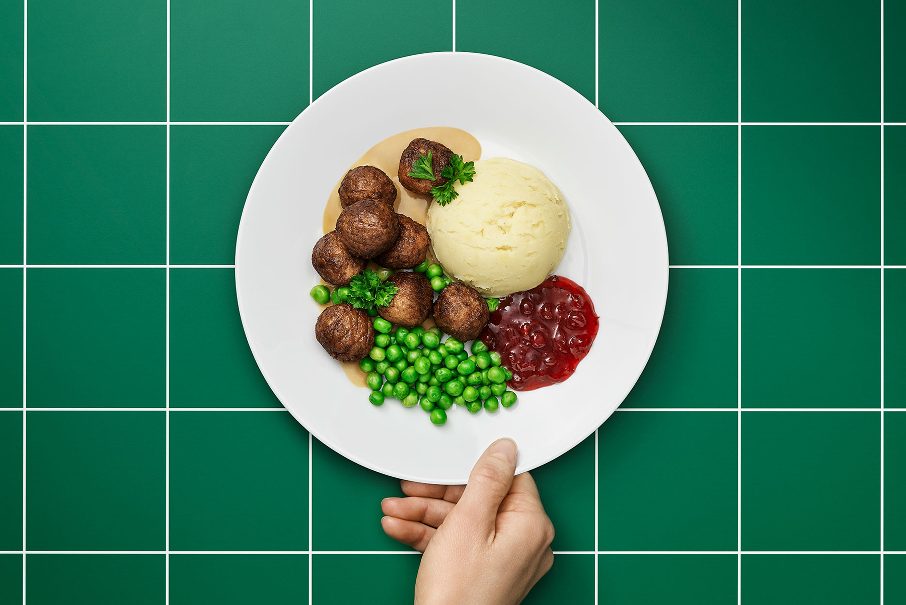 Ikea plant balls served on a plate