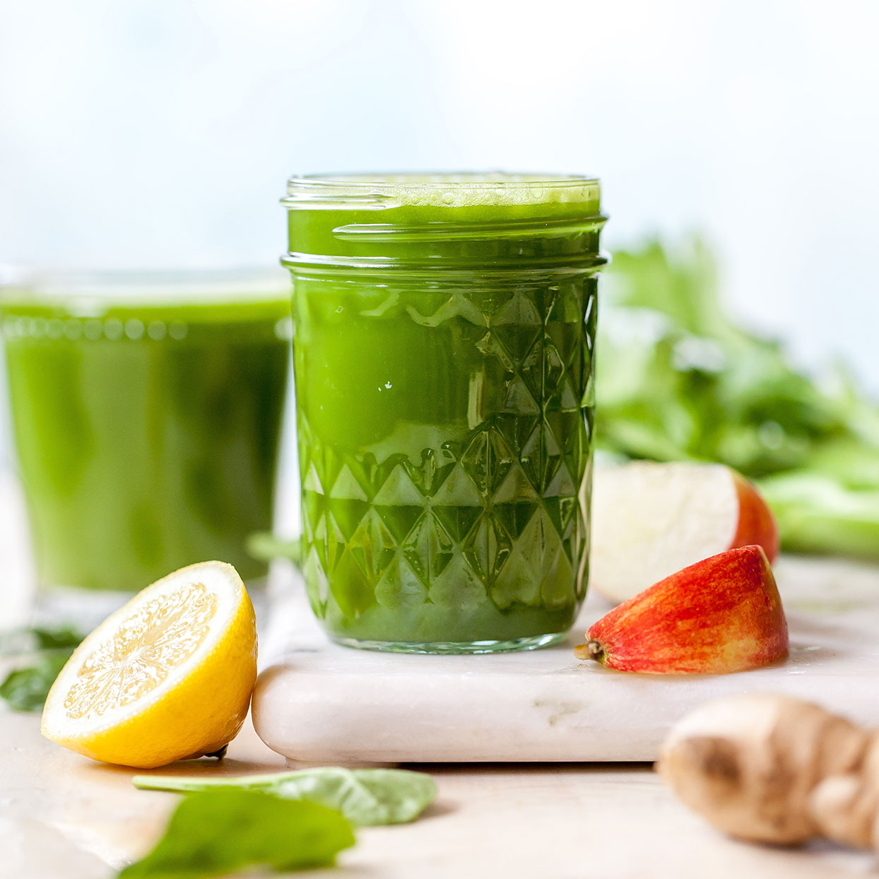 Green Spinach Superfood Shots