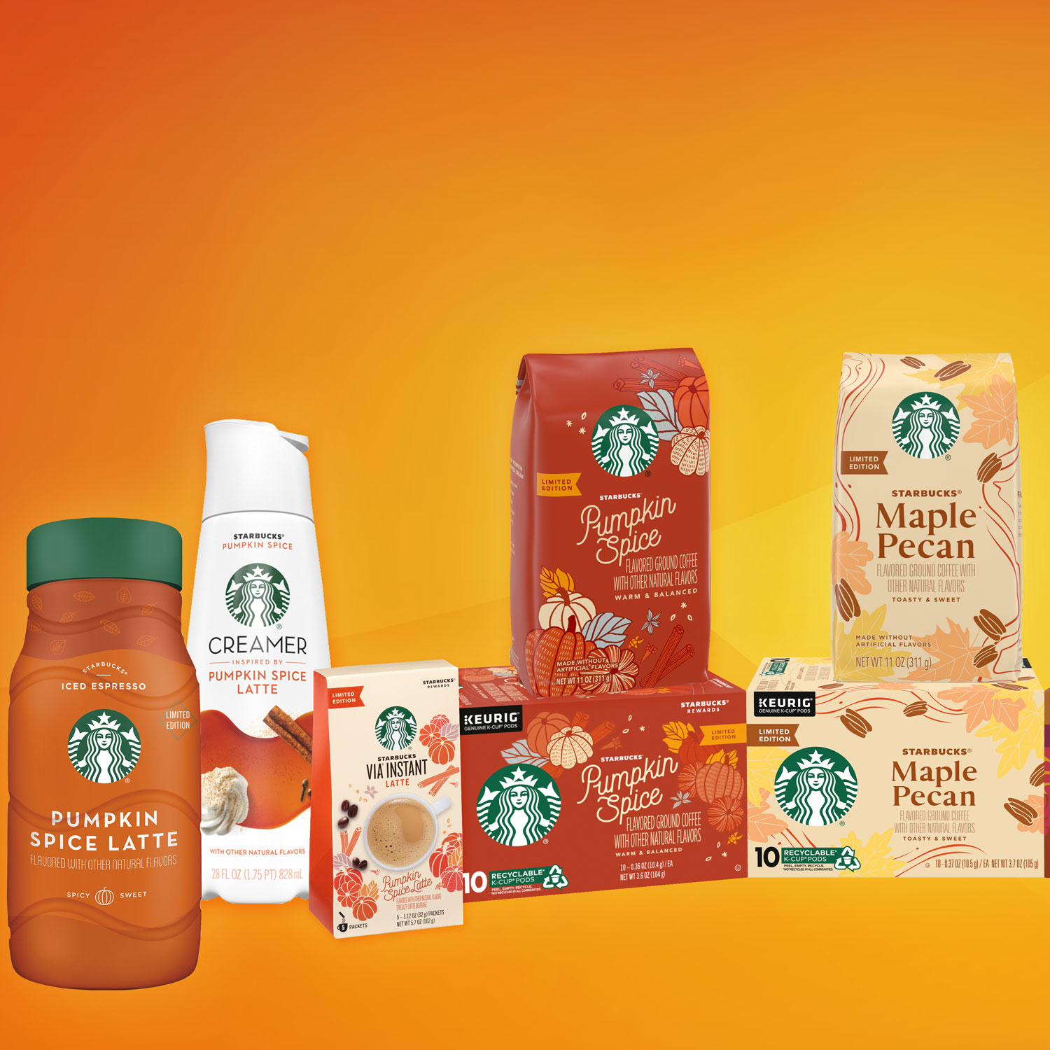 starbucks fall grocery coffee