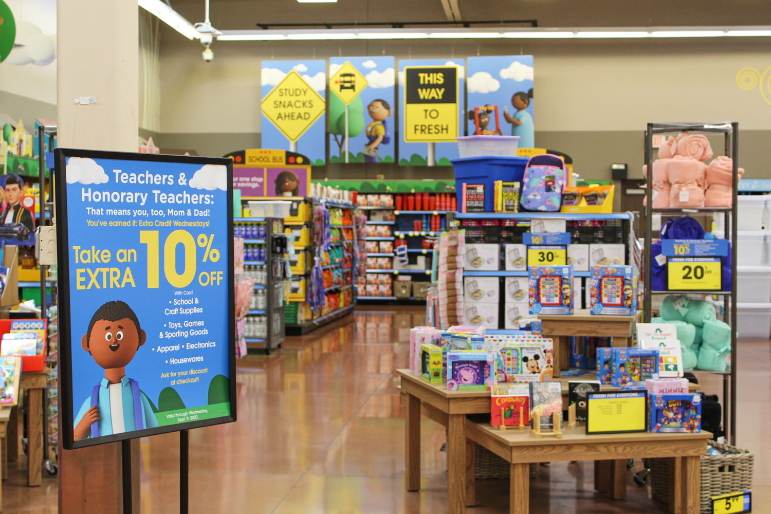 Kroger store display for school supplies