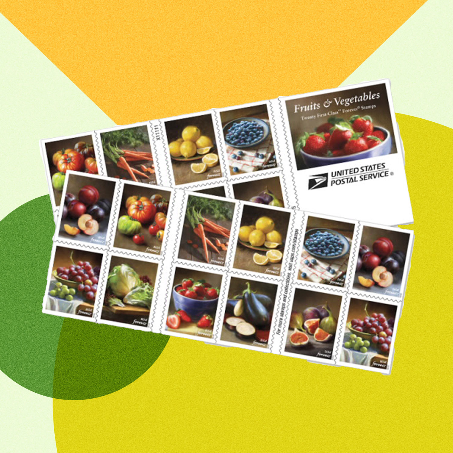 Forever Stamps Fruit and Vegetables