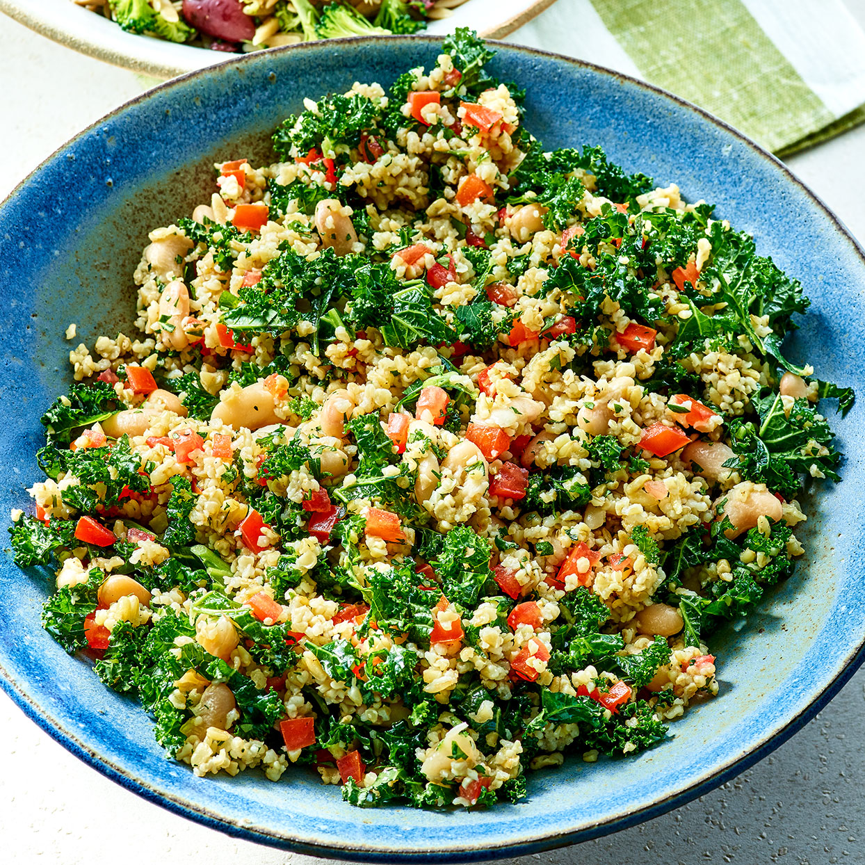 Freekeh Tabbouleh with Kale & Cannellini Beans